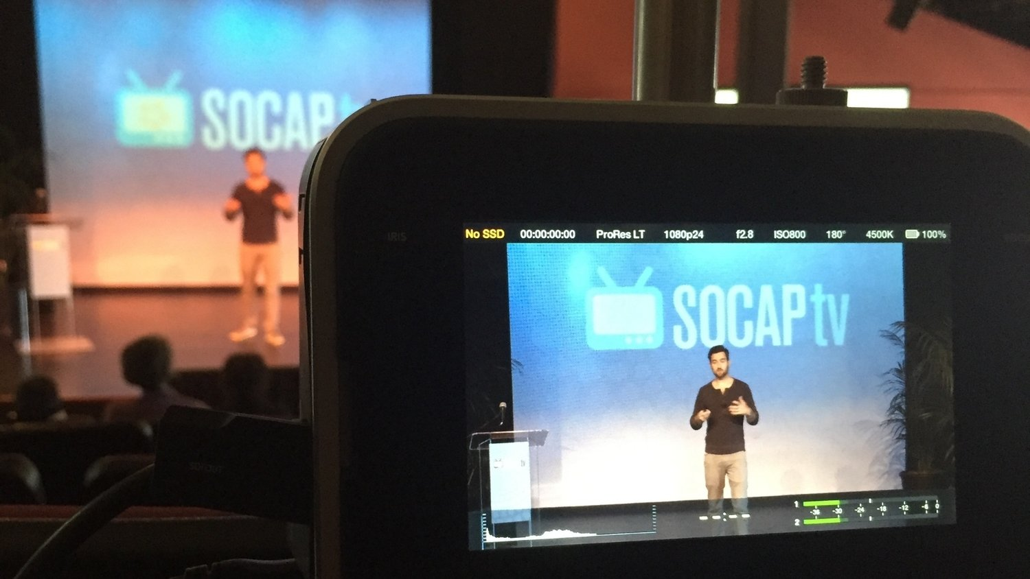 livestream services shown with a professional stage and presentation.